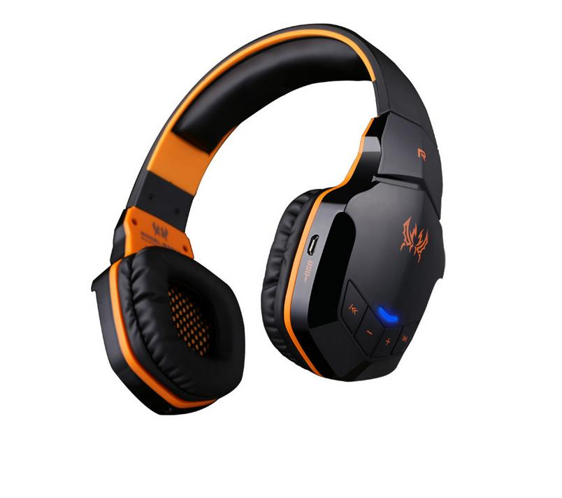 New  Wireless Kotion Each Bluetooth 4.1 Stereo Gaming Headphones Support NFC with Microphone for iPhone 6/iPhone6 Plus Samsung 8252 original stereo sports gaming noise reduction built in microphone headphones wireless bluetooth headset for iphone samsung