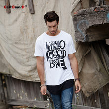 3a112a555a9d0c GustOmerD New Summer Cotton T shirts Fashion Hip Hop Long Length Tops Tees  Casual Fitness Mens Brand Clothes T-shirt Men T Shirt