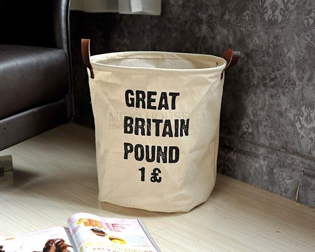 Free Shipping Cotton Fiber Storage Bags Sundries  Storage Bags Letter POUND JP3614