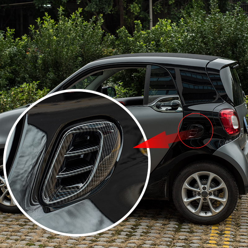 Rear Air Outlet Decorative Frame ABS Sticker 3D Air Outlet Protection Cover Car Styling Accessories For New Smart Fortwo 453