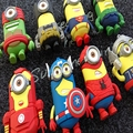 for iphone cute yellow Minions cartoon Soft Rubber For IOS Android Portable Power bank external Battery Charge