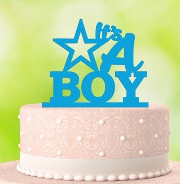 Benutzerdefinierte Farbe Seine Ein Junge Kuchen Toppersturquoise
