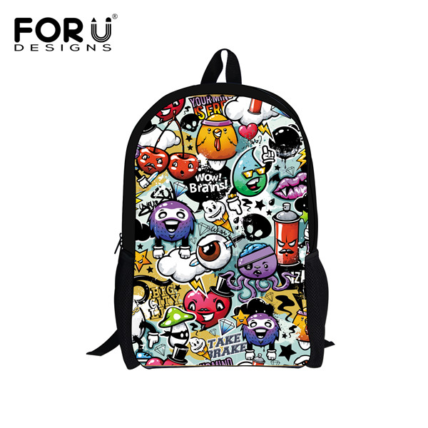 ed464272927c Hot Sale American Graffiti Backpack Cool Design Backpacks For Teenager  Children Kids Girls School Bags Women Mochila Book Bag-in School Bags from  Luggage ...