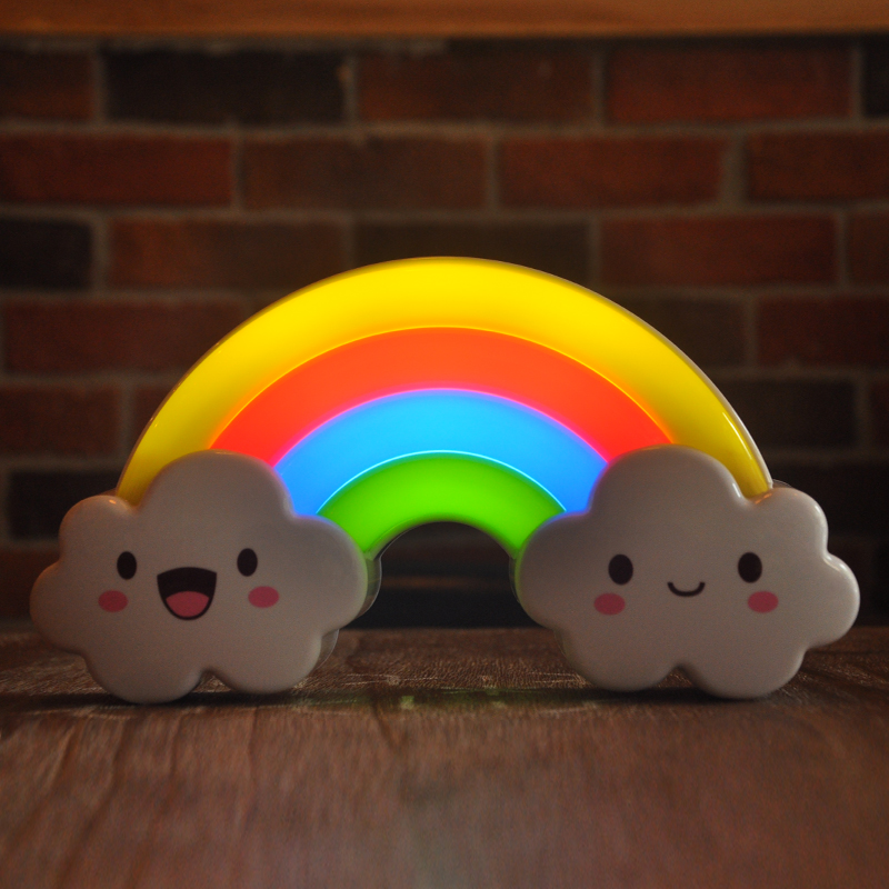 Voice&Light Control LED Rainbow Colorful Night Light Wall Sticker Rainbow Bridge Bedside Lamp Decorative Light For Children