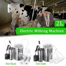 2Л корова; Коза; овца, ведро всасывания Milker Прочный Электрический доильный аппарат из нержавеющей стали вакуумный насос бытовые доильные машины