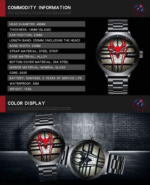 Red Spider Stainless Steel  Men's Wristwatch