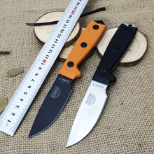 Newest !! 2 Color ESEE-3 Rowen 7Cr17Mov Blade Camping Fixed Knives G10 Handle Survival Straight Knife Outdoor EDC Tools K Sheath