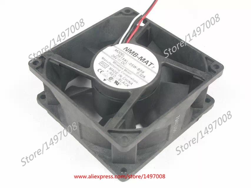 NMB-MAT 3615KL-05W-B59 DC 24V 0.32A 3-Wire 127x127x38mm Server Cooler FanNMB-MAT 3615KL-05W-B59 DC 24V 0.32A 3-Wire 127x127x38mm Server Cooler Fan