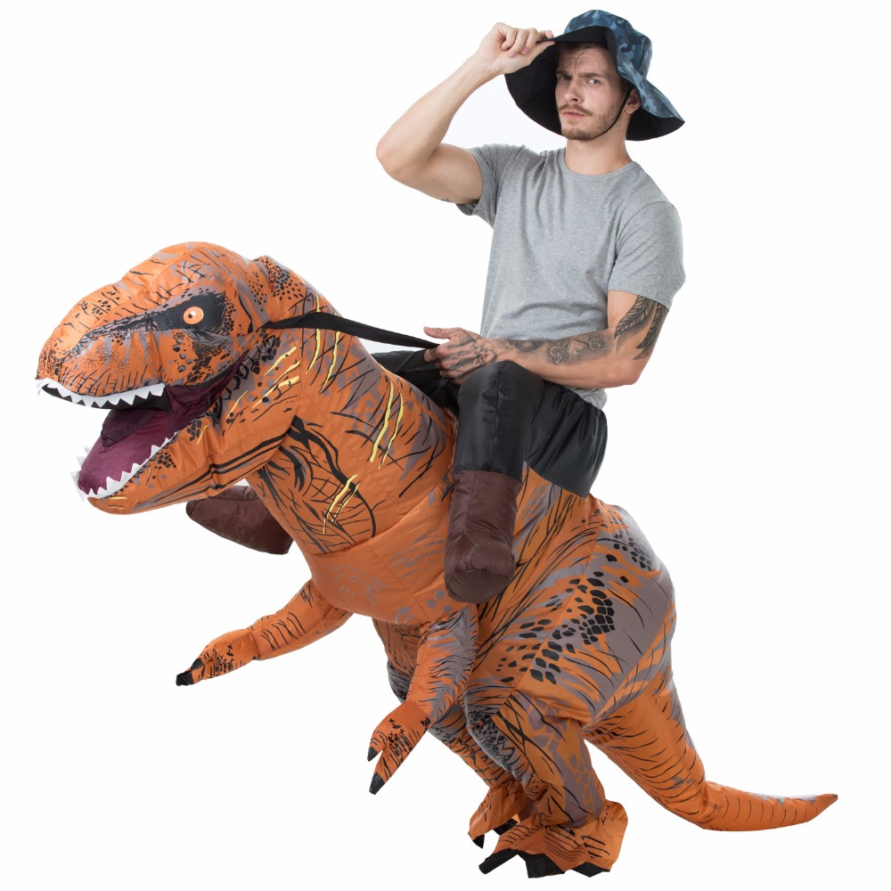 New style T-REX dinosaur  Inflatable costume for Carnival day Adult Fancy Dress Costume Halloween costume