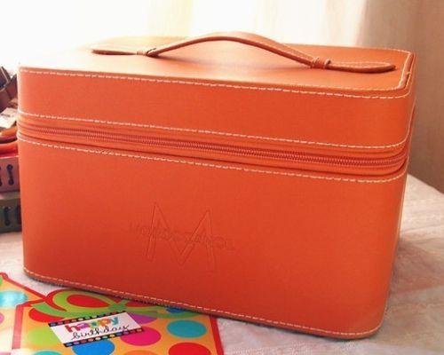 Women Moroccanoil Case Cosmetic Box Orangeblackblue Faux -3799