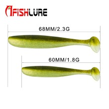 цены 8pcs/lot Soft Lure T Tail 75mm 2g Fake Fish Silicone Baits Soft Shad Fishing Lure Leurre Souple Peche Pesca artificial lure