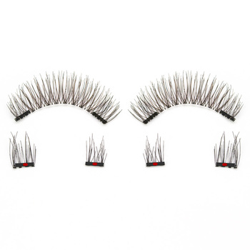 Genailish 3D Magnetic Eyeashes false eyelashes 1 pair 3d eye lashes extension lashes natural custom packaging Box Acrylic SCT05 3
