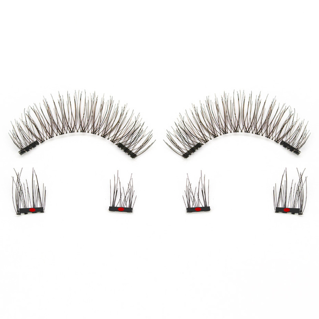 Genailish 3D Magnetic Eyeashes false eyelashes 1 pair 3d eye lashes extension lashes natural custom packaging Box Acrylic SCT05 2