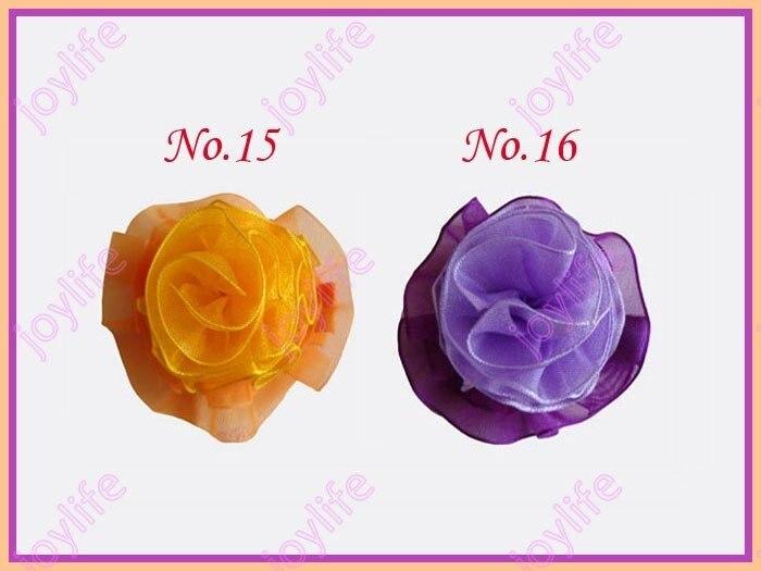 20 штук 3 ''Мода пачки и органзы Волосы Луки Разноцветные девушка Bow заколки
