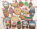 Fashion Clothing DIY Accessories Sequined Cake/banana/similing Face/ice Cream/Popcorn Patches Fruits Cloth Patch 5 Pieces/lot