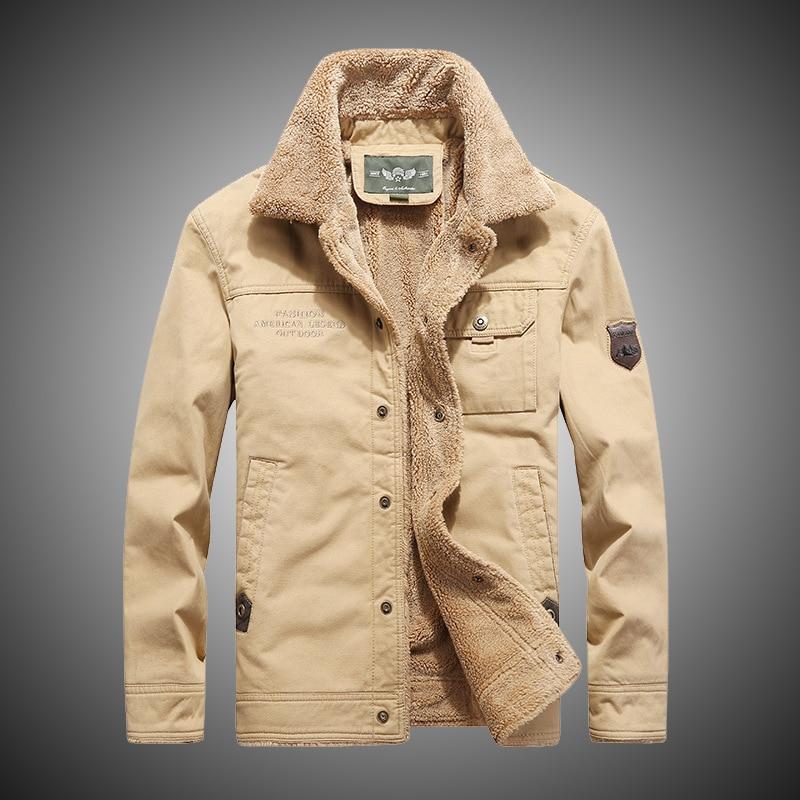 f3c312b1 Chaqueta militar para hombre 2018 chaqueta de bombardero gruesa para hombre  chaqueta táctica de carga Parkas talla grande 4XL caqui chaquetas y abrigos  para ...