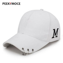 Peekymoce Letter Snapback Hip Hop  Black Hats Caps Men Branded Baseball Caps Fashion Baseball Cap Men Snapback Women Bone Hats