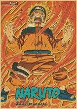 Retro, vintage Naruto Uzumaki's full color Wall Poster