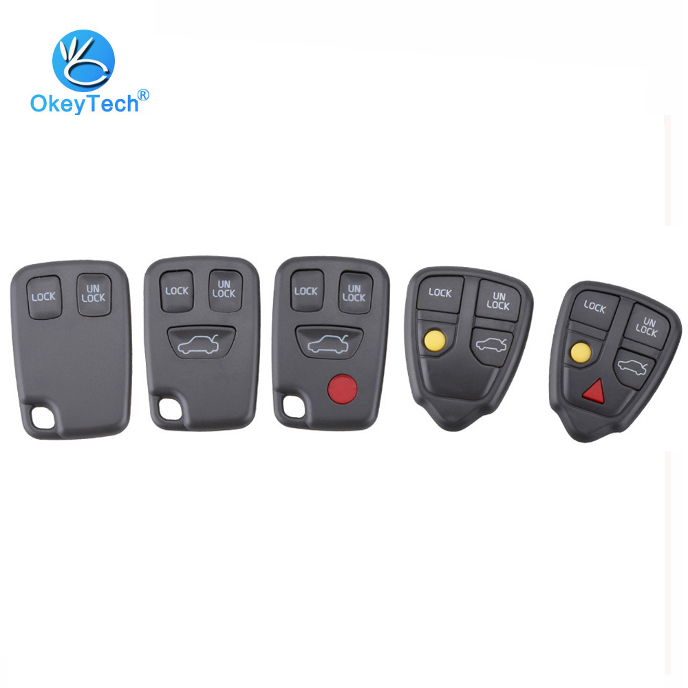OkeyTech 2/3/4/5 Buttons <font><b>Replacement</b></font> Remote Car <font><b>Key</b></font> Cover Case Fob Shell for <font><b>Volvo</b></font> <font><b>S40</b></font> S60 S70 S80 V40 V70 XC90 XC70 image