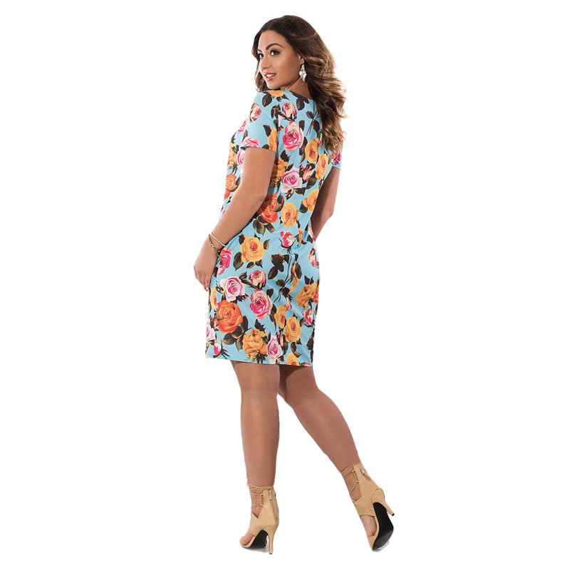 HTB1XFqMXnzGK1JjSsphq6xc6XXak 2019 Autumn Plus Size Dress Europe Female Fashion Printing Large Sizes Pencil Midi Dress Women's Big Size Clothing 6XL Vestidos