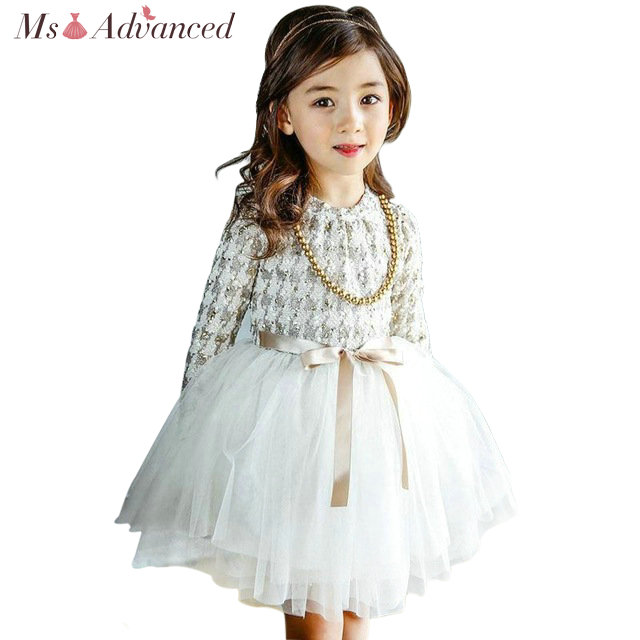 2018 New Spring Autumn High Quality Baby Lace Princess Dress For Girl Elegant Birthday Party Dress Baby Girl Christmas Clothes baby girl birthday princess dress spring