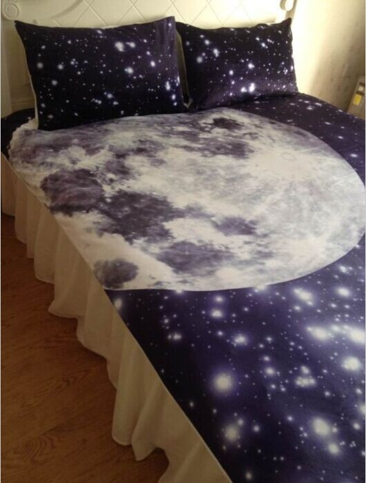 Top Moon and Stars Bedding set King Queen full size duvet cover bed in  VM65