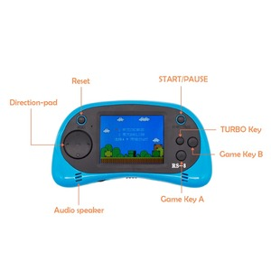 Image 5 - RS 8 Handheld Game Console for Kids Built in 260 Classic Old Video Games 2.5Lcd Retro Arcade Gaming Player TV out Birthday Gift