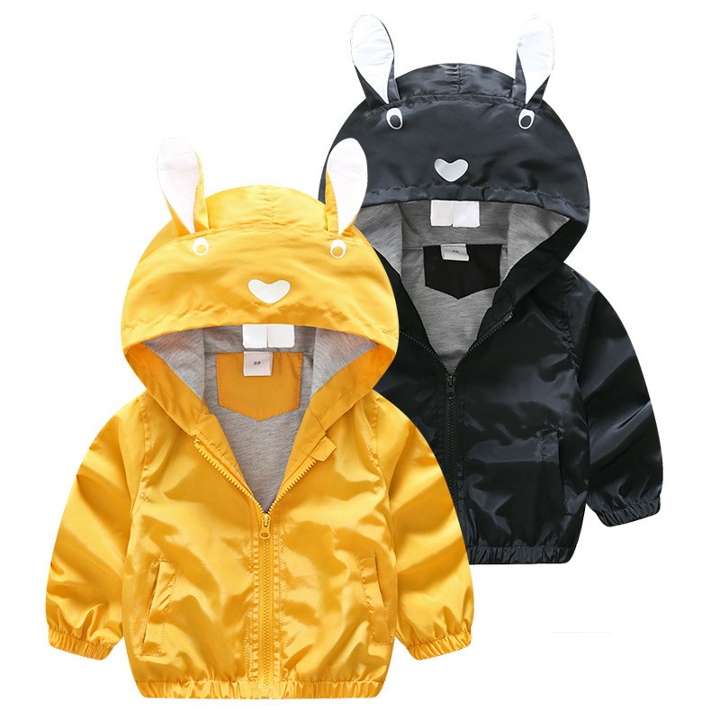 CROAL CHERIE 80-130cm Cute Rabbit Kids Boys Jacket Girls Outerwear & Coats Children Korean Kids Clothes 2018 For Girls Autumn (3)