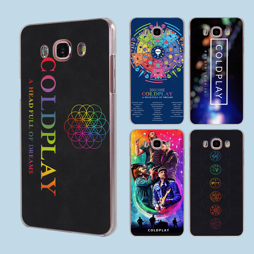 Coldplay A Head Full of Dreams design transparent clear hard case cover for Samsung Galaxy J5 J7 J510 J710 J2 J3 J1 2016