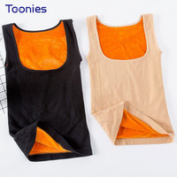 Thick Cashmere Tank Tops Vest Winter Skinny Slim T Shirt Tee Thick Thermal Women Underwear Female