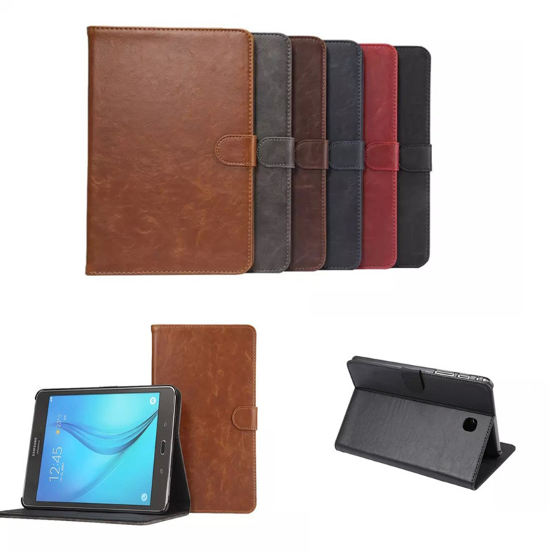 DS Crazy PU Leather Stand Case with Card Slot for Samsung Galaxy Tab A 8.0 T350  T355  sm-t355 P350 p355C 8'' Tablet Case