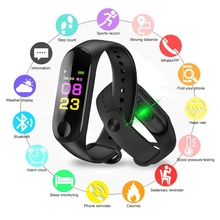 2019 Fitness Bracelet Blood Pressure Outdoor Screen Heart Rate Monitor Smart band M3 Plus