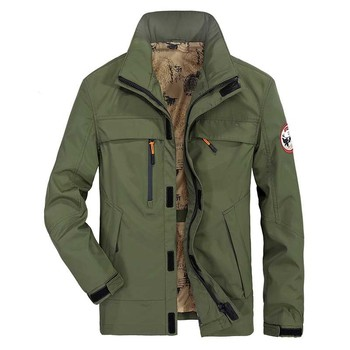 Spring Autumn New Fashion Jacket Men Casual Military Jacket and Coat with Multi Zipper Pocket Loose Windbreaker Male Clothing