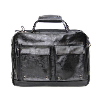PU Leather Handbag For Men Bags Male Large-Capacity Portable Shoulder Bag Men's Business Fashion Bag Package High chileelove tassels marble pattern pu leather cosmetic bag makeup brushes kit bag handbag fashion zipper bag high capacity