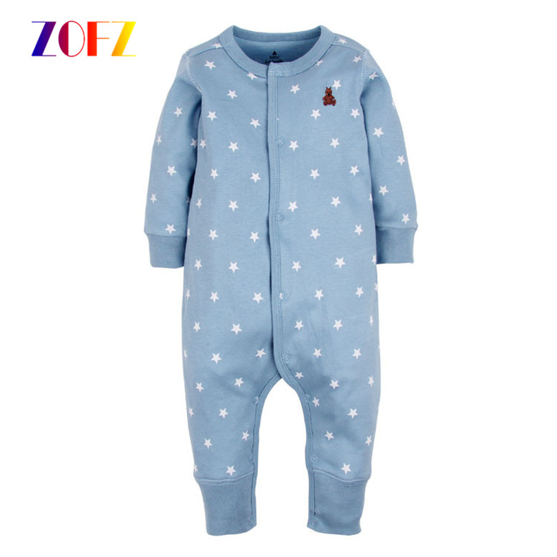 ZOFZ Baby girls clothing Newborn Baby Boy Girl Clothes Long Sleeve Cartoon Printed Jumpsuit Baby Romper for baby boy clothing newborn autumn winter clothes baby romper clothing long sleeve cotton animal baby bebe onesie girl boy cartoon warm jumpsuit