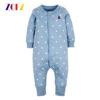 ZOFZ Baby Girls Clothing Newborn Baby Boy Girl Clothes Long Sleeve Cartoon Printed Jumpsuit Baby Romper