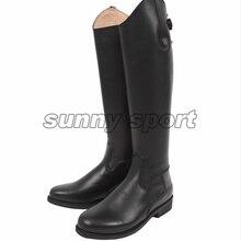 Кожаные сапоги для верховой езды; высокие сапоги; кожаные сапоги В рыцарском стиле