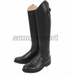 Кожаные ботинки для верховой езды; высокие ботинки В рыцарском стиле