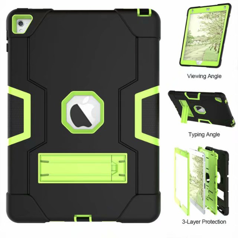 Case Cover For Apple Ipad Air 2 Tablet Stand Shockproof Heavy Duty Protect Skin Rubber Hybrid Case For IPad 6 9.7 Tablet Case