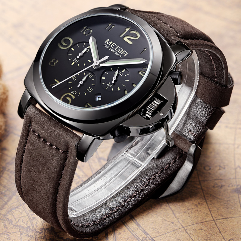 waterproof black digital clock cool product led army men shock leather watch picture male sport p brand item wristwatch watches dropship creative gimto