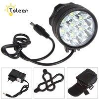 כוח TSLEEN 8400Lm 7 3xcree XM-L T6 LED נטענת אופניים אור אופני אורות פנס + 8800 mAh סוללות + סרט מטען