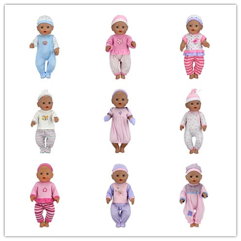 15Color Choose Set Clothes+hat Wear fit 43cm Baby Born zapf, Children best  Birthday Gift(only sell clothes)