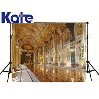 kate Photographic background European architecture Basilica Golden Palace studio digitalbackdrops boy wedding 8x8