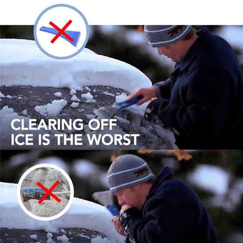 Raschiare UNA Magia Rotonda a Forma di Cono Parabrezza Neve Raschietto del Ghiaccio Pala Strumento non graffiare il vetro #2n27