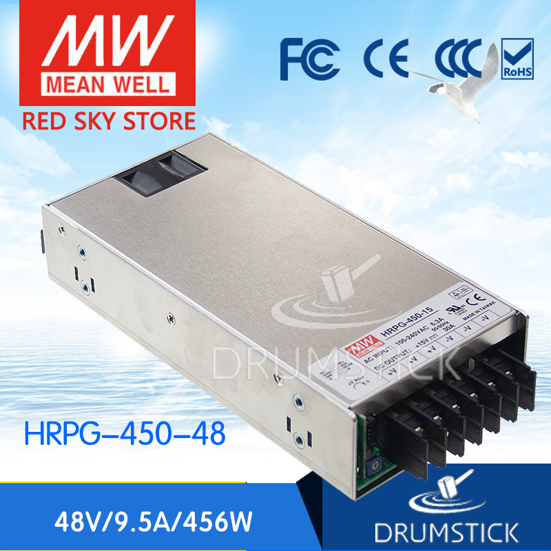 Hot sale MEAN WELL HRPG-450-48 48V 9.5A meanwell HRPG-450 48V 456W Single Output with PFC Function Power Supply advantages mean well hrpg 200 24 24v 8 4a meanwell hrpg 200 24v 201 6w single output with pfc function power supply [real1]