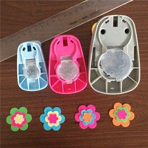 Image 2 - 3 pçs (16mm, 25mm, 38mm) forma de flor artesanato conjunto perfurador crianças manual flores buraco socos corte de papel de scrapbook petal punch