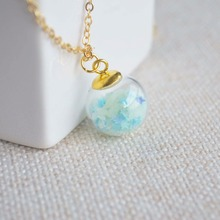luminous green star give out light necklace pendant nature jewelry Gift For Her