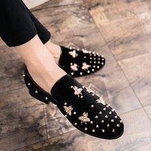 Handmade Velvet italian Model  Men's Loafers Shoe