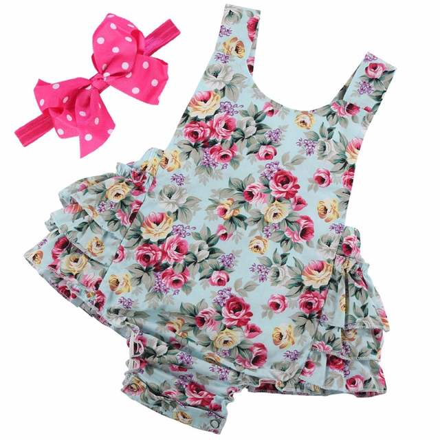 08ec3d857a98 placeholder Summer newborn baby girl clothes infant suspenders ropa de bebe  nina 2018 Baby Wear Jumpsuits Clothing