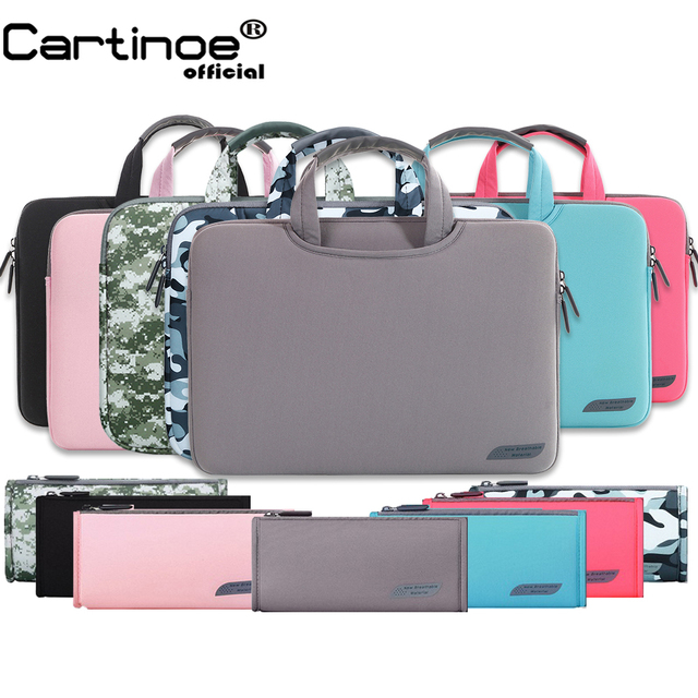 Portable Laptop Sleeve bag 11 12 13 14 15.6 inch Computer Carrying Case  Handbag men women Beiefcase case for Macbook Pro 13 15 c37dc7c9fa15